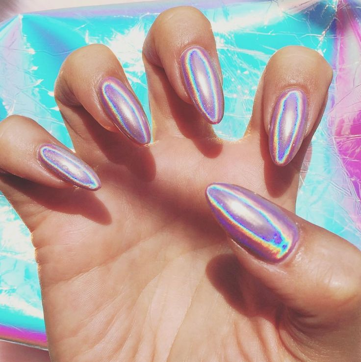 The new fall nail polish trend that's blowing up on Instagram: holographic nails. Yeah, we're a little obsessed.