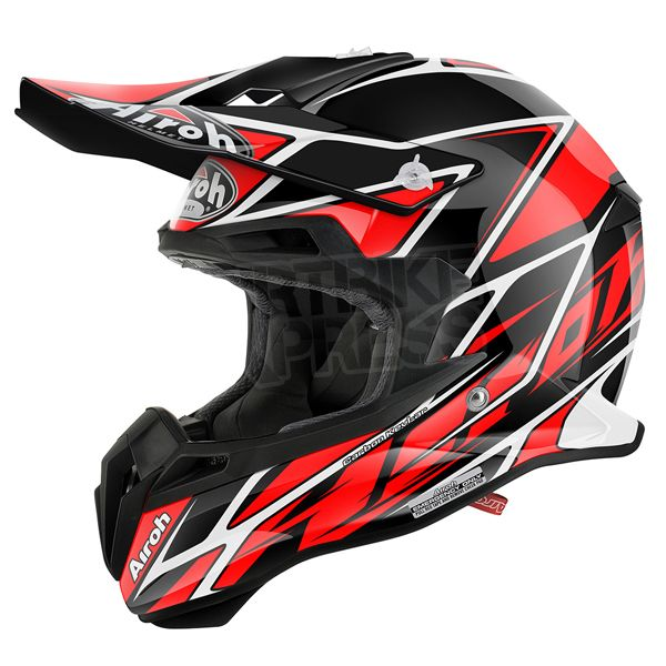 2015 Airoh Terminator 2.1 Helmet - Net Red