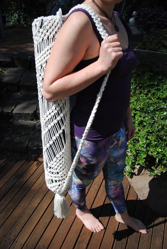 Yoga Mat Bag Yoga Bag Macrame Bag Macrame Yoga Bag