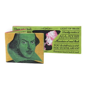 Shakespeare Insult Wallet, $17.50, now featured on Fab.