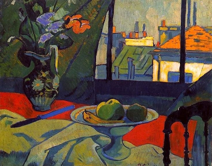 "Paul SERUSIER ""Nature morte- l'atelier de l'artiste"". Paul Sérusier was a French painter who was a pioneer of abstract art and an inspiration for the avant-garde Nabi movement, Synthetism and Cloisonnism."