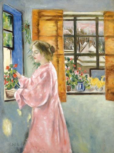 Csók, István (1865-1961) In the conservatory