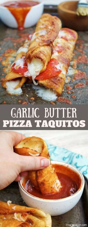 garlic butter pizza taquitos | homemade taquitos | mexican | pizza | pepperoni | mozzarella | 15 minute recipes | easy recipes | pizza rolls | pizza sauce | fried food | fried tortillas