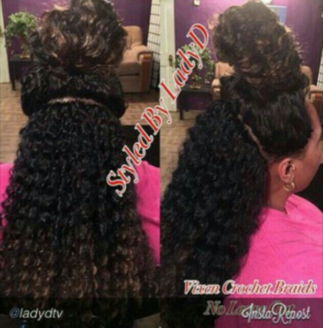 Crochet Braids With Leave Out : vixen crochet braids with no leave out hidden knot method