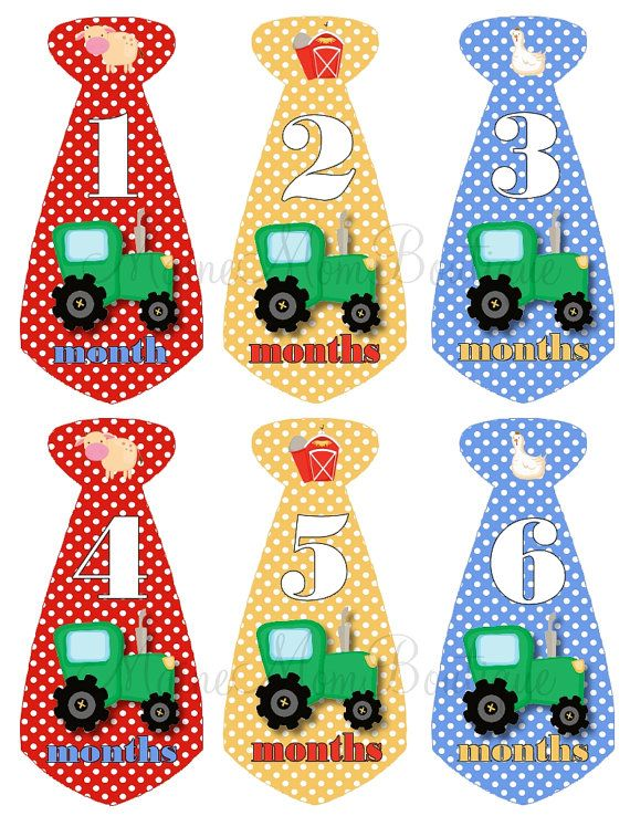 SALE Baby Boy Monthly Onesie Tie Stickers Farm Country Tractor John Deere on Etsy, $7.95