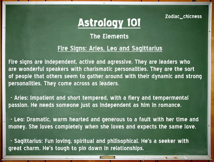 Zodiac 101: Fire Signs