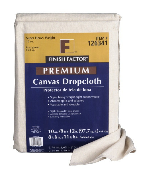 """100% cotton canvas painters tarp are my decorating secret.  Use them for drapes, tablecloths or stretch it to make a screen for your outdoor movie theater!"" --@Danny Seo"
