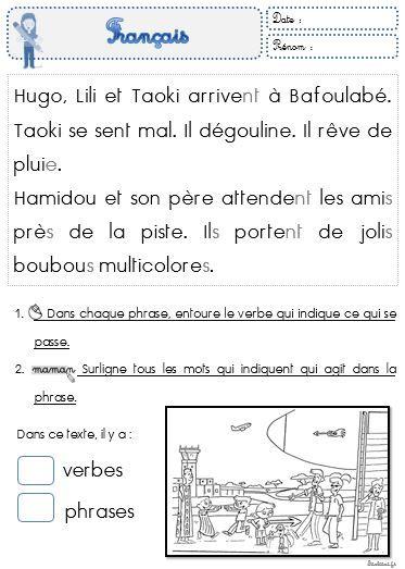 Faire de la grammaire au CP avec Taoki - Le petit cartable de Sanleane