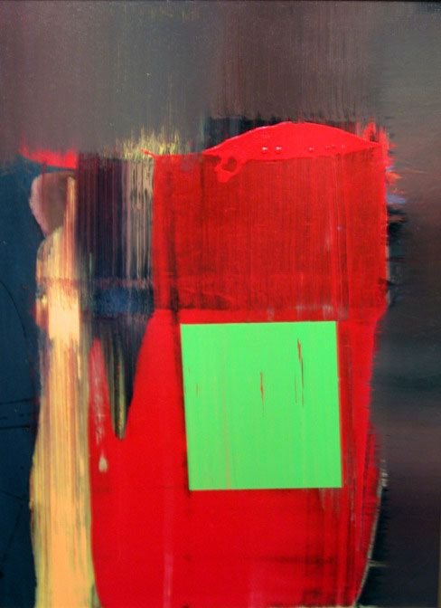hans-hoffman-green-formality. simple  #art #painting #abstract #red #green #hans_hoffman #expressionist