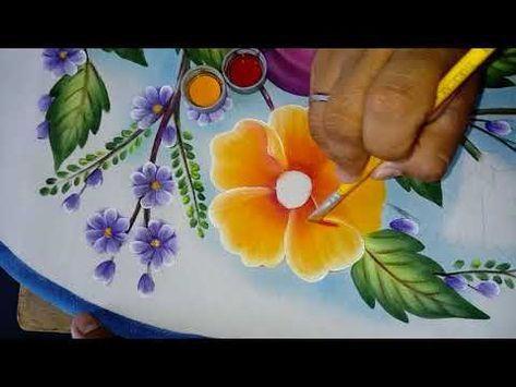 Pintando flor amarilla con ciruelas. - YouTube | Pintura ...