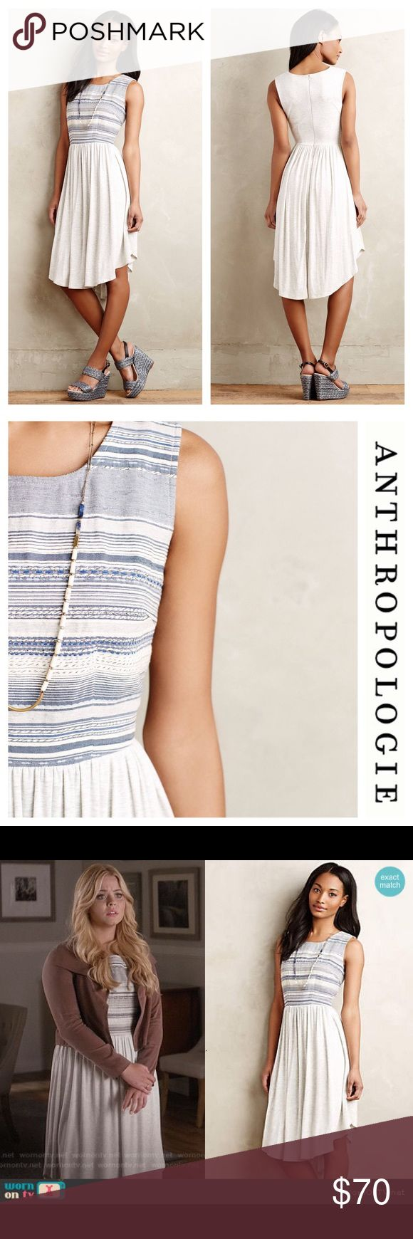 Anthropologie Dolan Left Coast Sabado Dress Blue L Anthropology brand Dolan Left Coast Collection Sabado Dress! You may have seen this dress on Ali from Pretty Little Liars! This dress will compliment any body shape with its fit-and-flare skirt and the empire silhouette. An asymmetric circle hem keeps it current. Two zippers help you get in and out, one on the side and a long dramatic back zip. This sleeveless dress is perfect for summer or any other season as long as you have a cute coat to…
