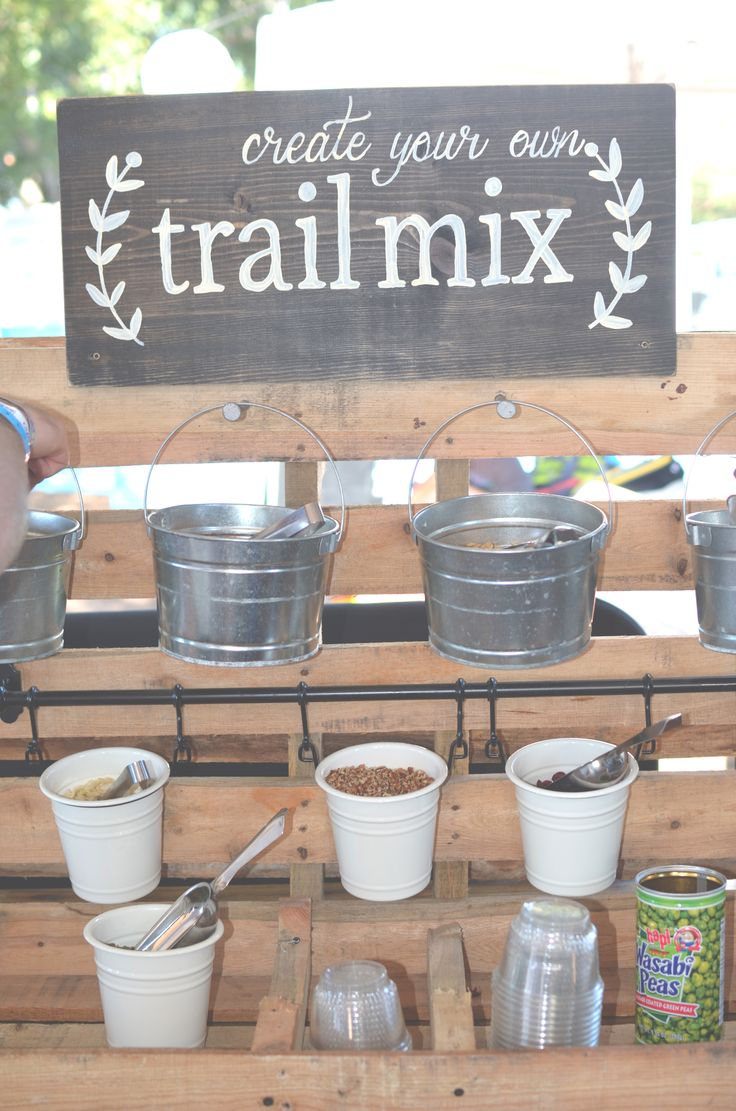 Create your own Trail Mix bar by Global Event Group Catering @ ACL 2014. #weddingideas #weddingfood #buildyourown #makeyourown  #fooddisplay