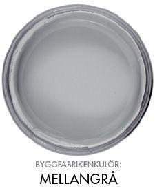 Byggfabrikenkulör mellangrå http://www.byggfabriken.com/sortiment/farg-och-ytbehandling/ekologisk-vaeggfaerg/