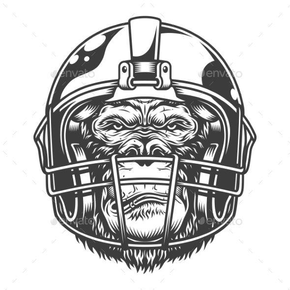 Serious Gorilla In Monochrome Style Gorilla Monochrome Style In 2020 Monochrome Fashion Unique Poster Vector Design