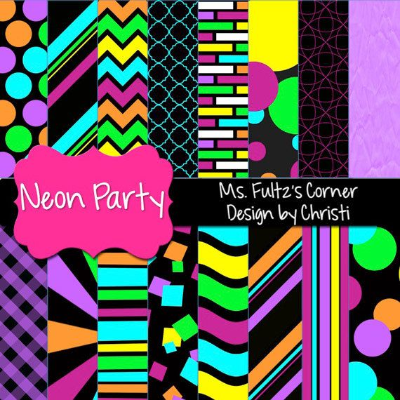 Purple Animal Print Wallpaper Neon Party Digital Paper Backgrounds For Personal And
