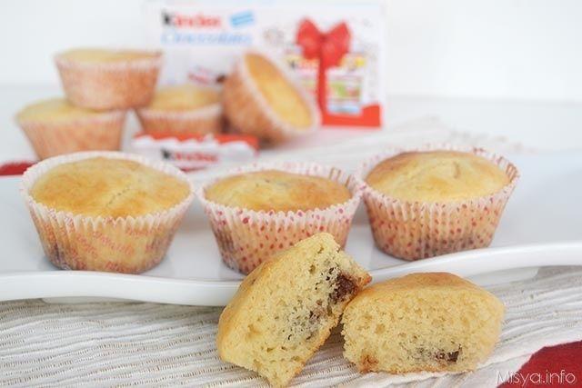 Muffin al cioccolato Kinder, scopri la ricetta: http://www.misya.info/ricetta/muffin-al-cioccolato-kinder.htm