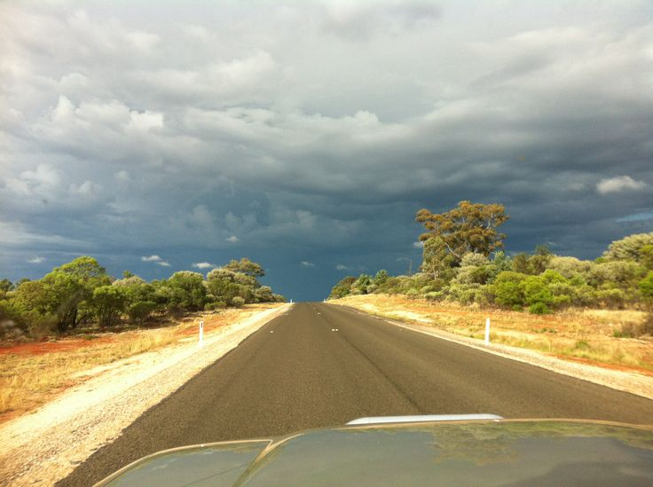 Storm on way to Broken Hill, NSW