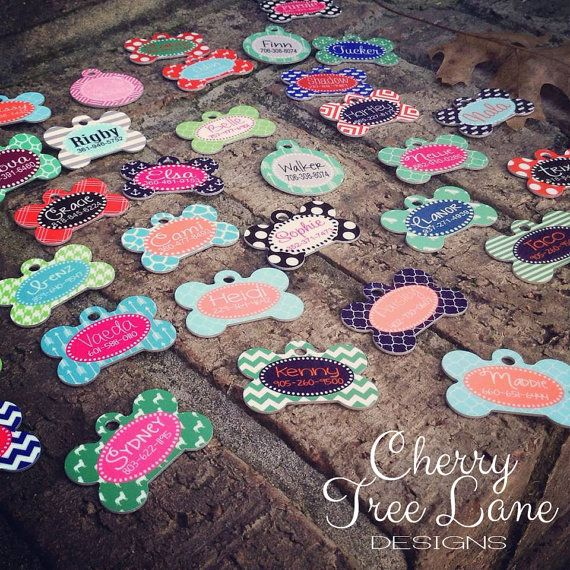 How precious are these lovely Pet ID Tags. Simple and sweet. Give your pet the personality he/she deserves!