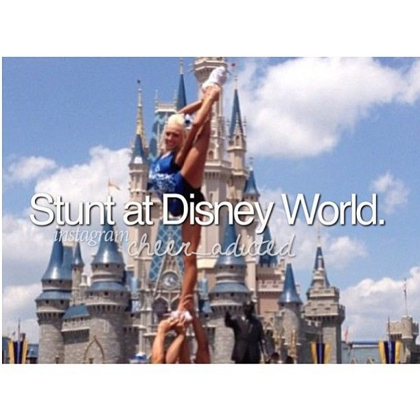 Stunt at Disney! #cheer