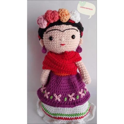 Patrón Propio De Frida Kahlo A Crochet (amigurumi)