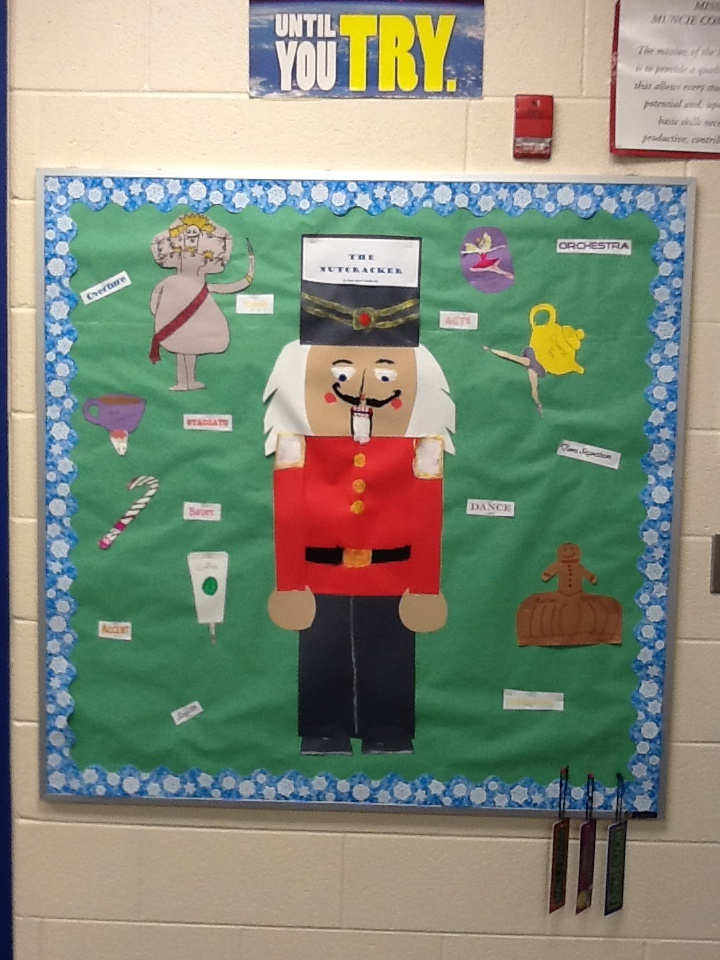 Nutcracker bulletin board education pinterest for Bulletin board organization