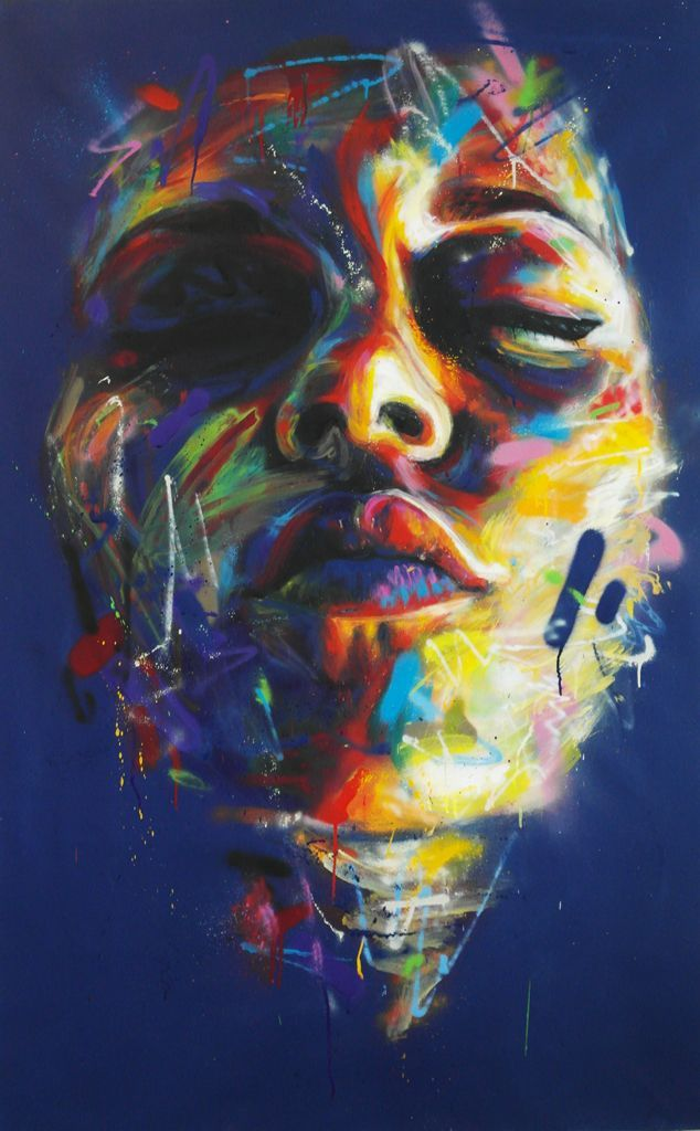 David Walker street art. Colorful street art, beautiful street art.