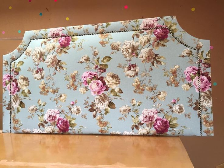 Our latest headboard, a classic studded floral beauty.