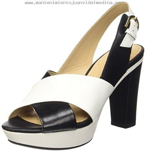Geox D Heritage B - Sandalias de vestir Mujer Negro - Noir (C0127) - B01APTCYWC
