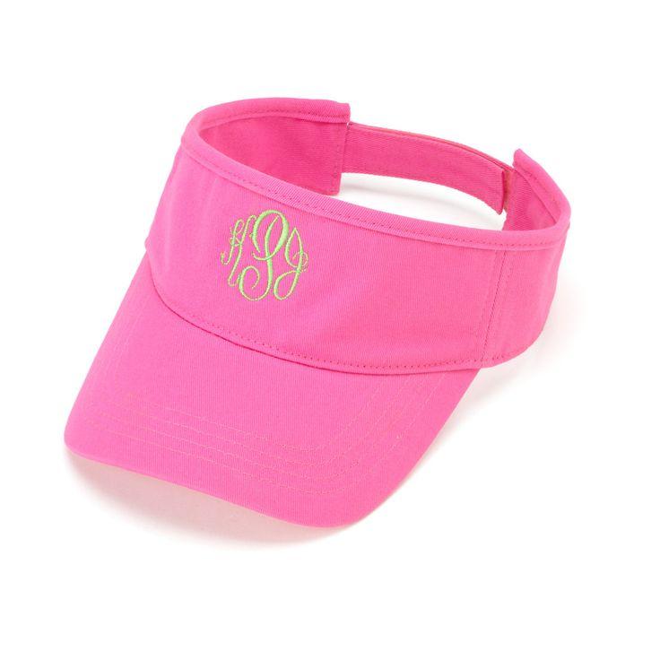 Pink Women's Visor - Women's Sun Hat - Monogrammed Visor - Initials Tennis Hat - Sun Hat - Monogram Visor - Monogram Gift - Beach Hat by SerenityoftheSouth on Etsy #monogrammed #pink #visor