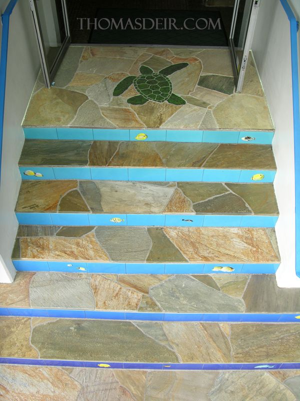 Granite Turtle Entry Floor Stone Mosaic - if I ever buy a house, I'm finding someone to do this!