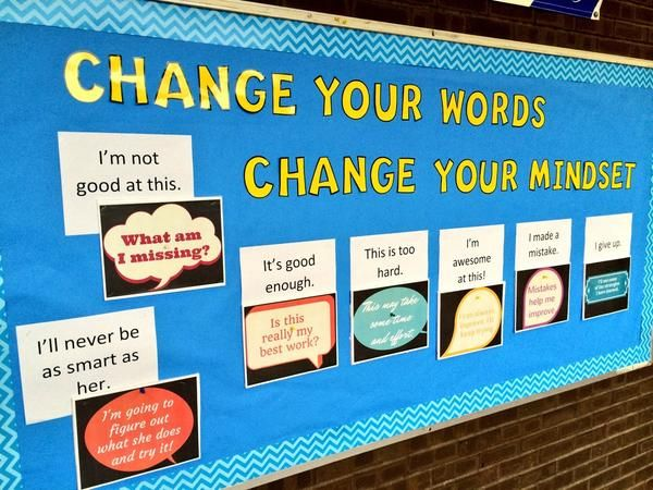 change your words change your mindset bulletin board - Google Search: