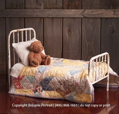 Newborn photo prop bed antique style iron bed shabby chic victorian photography furniture