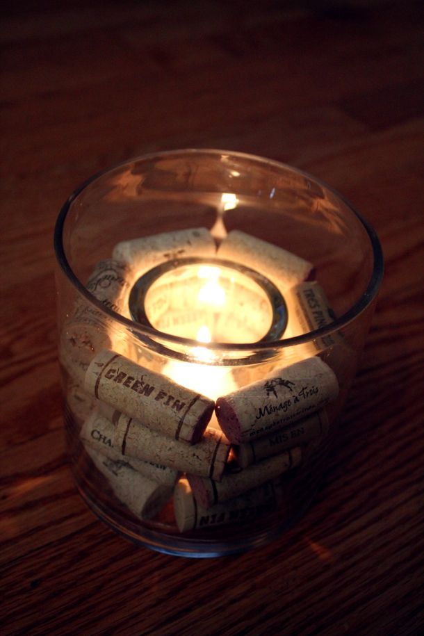 Wine Cork Candle Holders Bouchon De Li 232 Ge Pinterest