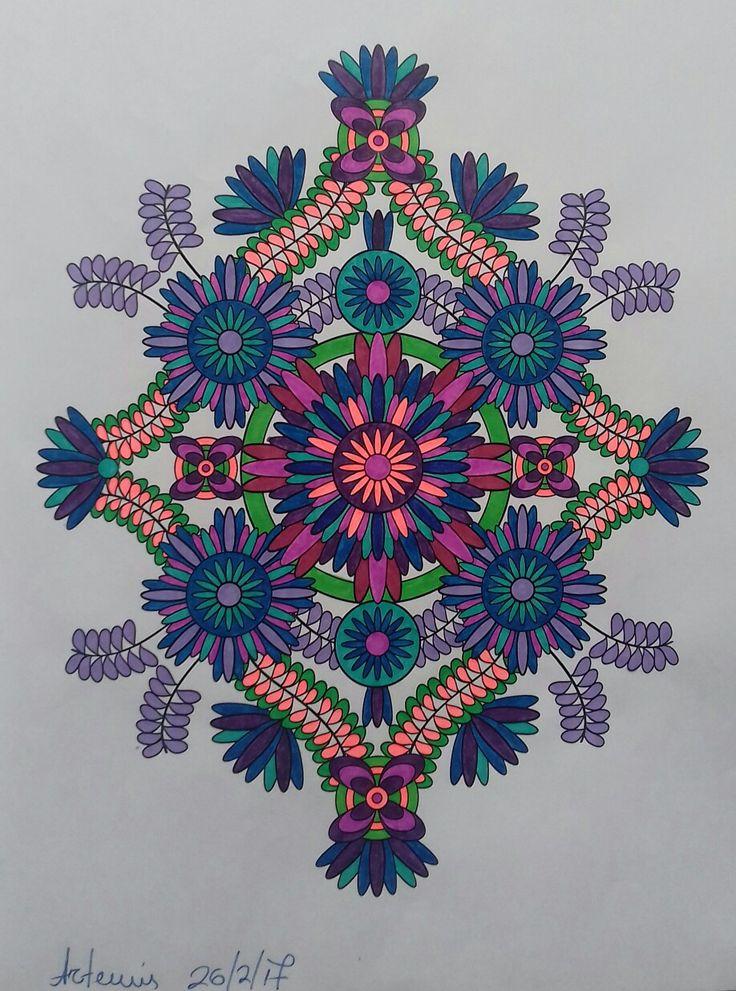 Week 45 /26022017 flower designs vol. 2 by Jenean Morrison coloured by Artemis Anapnioti.
