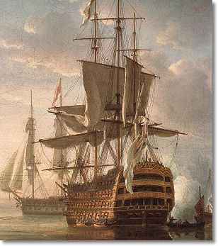 """""""Square meal"""" - British war ships in the 1700s including the HMS Victory (pictured) did not have the best of living conditions. A sailors breakfast and lunch were sparse meals consisting of little more than bread and a beverage. But the third meal of the day included meat and was served on a square tray. Eating a substantial meal onboard a ship required a tray to carry it all. Hence a """"square meal"""" was the most substantial meal served."""