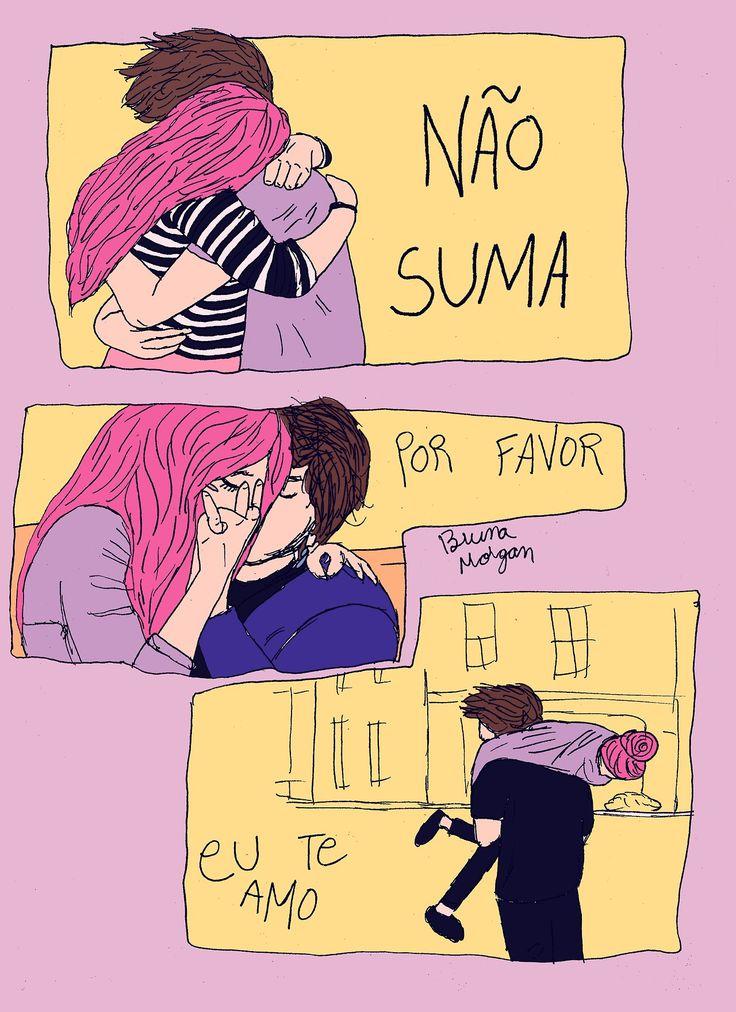 """bolhadetinta: """"NÃO SUMA. Por favor. Eu te amo. """""""