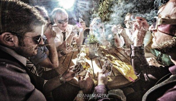 Ausgefallenes Gruppenfoto - Pokerrunde