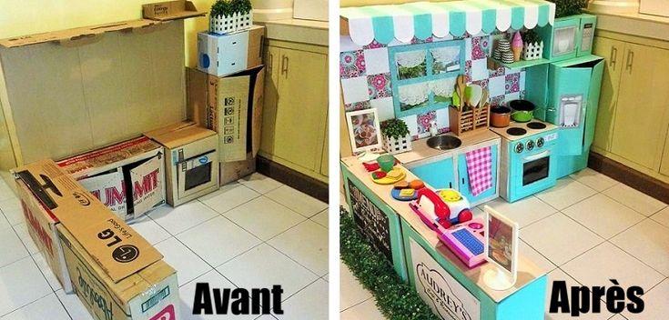 Comment créer une mini cuisine en carton pour votre enfant