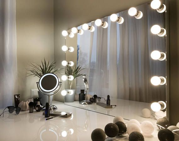 hollywood vanity mirror with lights makeup mirror with - Makeup Eitelkeit Beleuchtung Ikea