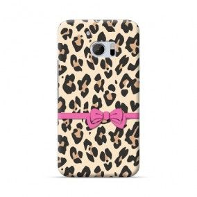 HTC 10 Leopard And Pink Bow Case