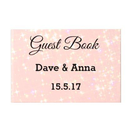 custompink sparkles background guest book - #chic gifts diy elegant gift ideas personalize