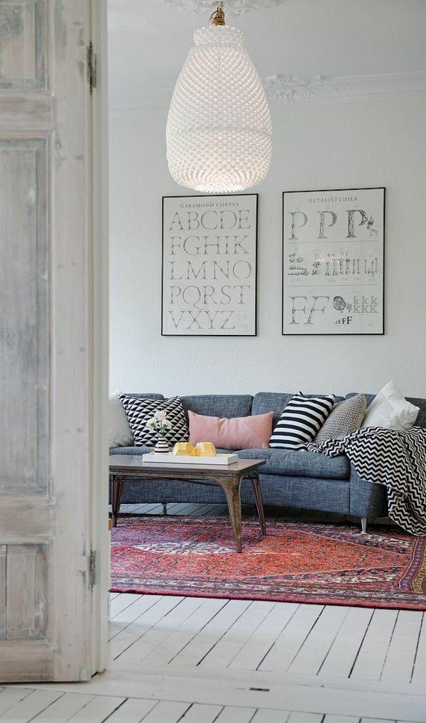 Wohnzimmergestaltung Ideen Bilder Design Vintage