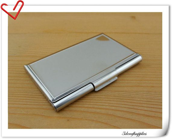 business card holder metal card case Blank card holder frame