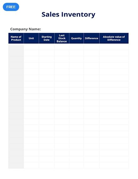 free sales inventory inventory templates designs 2019