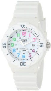 "Casio Women's LRW200H-7BVCF ""Diver Look"" White Resin and Plastic Watch"