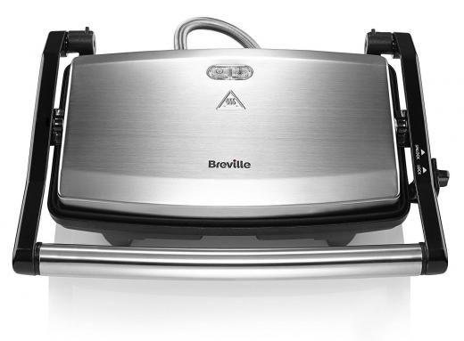 Breville Bnib Vst049 Cafe Style Flat Sandwich Maker Press Panini Toaster Silver Unknown