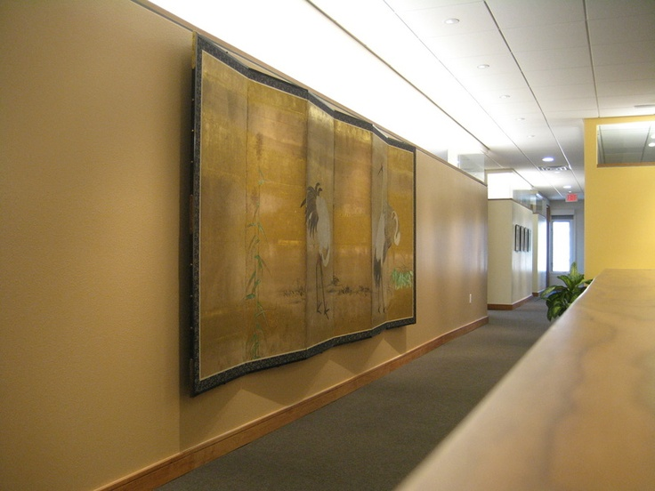Japanese Screen In The Office Of An Investment Company