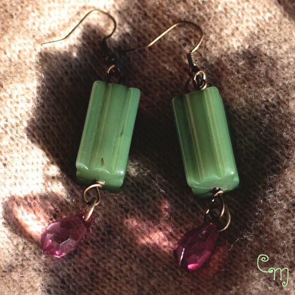 Orecchini verdi in stile Boho di Le Coucou Magnifique su DaWanda.com