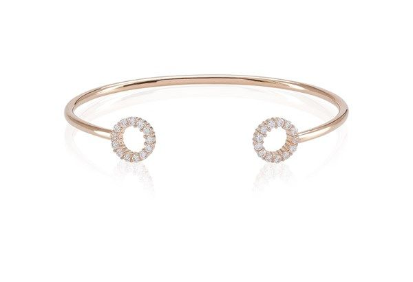 Bangle Biella - 18k rose gold plated with white zirconia!