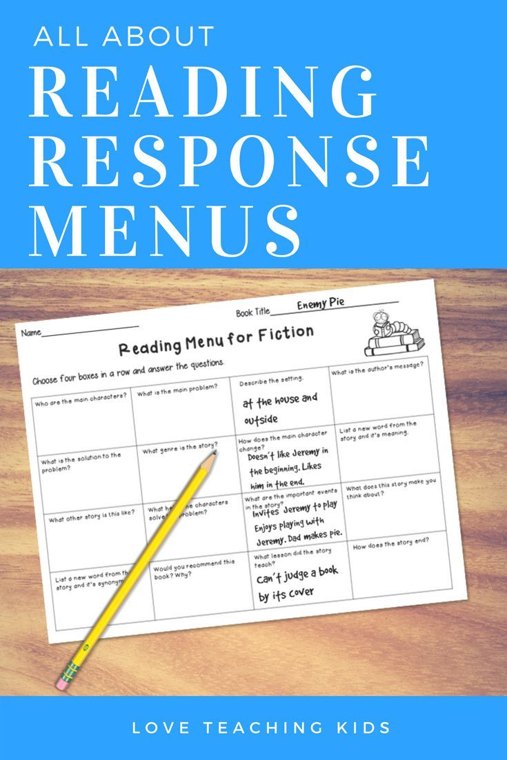 These Reading Response Menus Are A Fun Alternative To Your Comprehension Worksheets These Graphic Organizer Reading Response Choice Boards Reading No Response [ 1102 x 735 Pixel ]